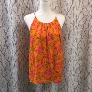 Violet + Claire halter top blouse orange